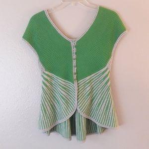 Anthroplogie Moth Sleeveless Crochet Knit Sweater